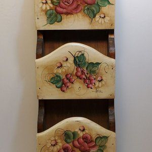 Vintage Wooden Letter Holder Wall Hanging Hanging